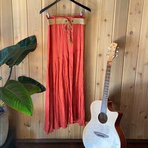 Coral red Buffalo maxi skirt